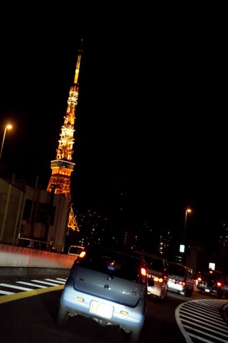 東京タワー 夜 ドライブ