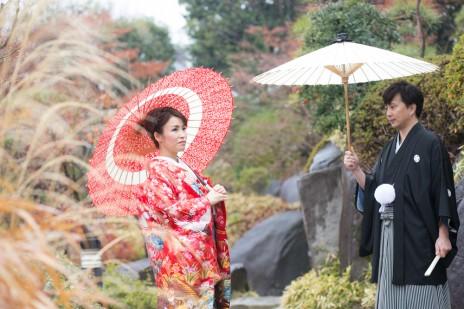 目白庭園,和装,結婚写真