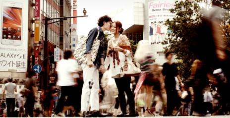 渋谷のスクランブル交差点 エンゲージメントフォト