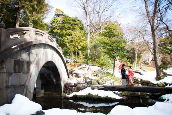 *雪化粧な小石川後楽園*