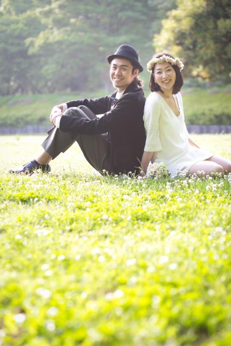 結婚写真 新緑