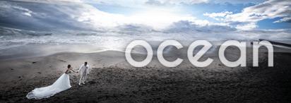 青い海と、青い空。 海辺のロケーションフォトプラン
