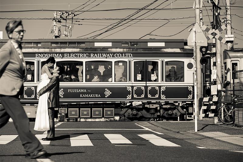電車とモノトーンショット