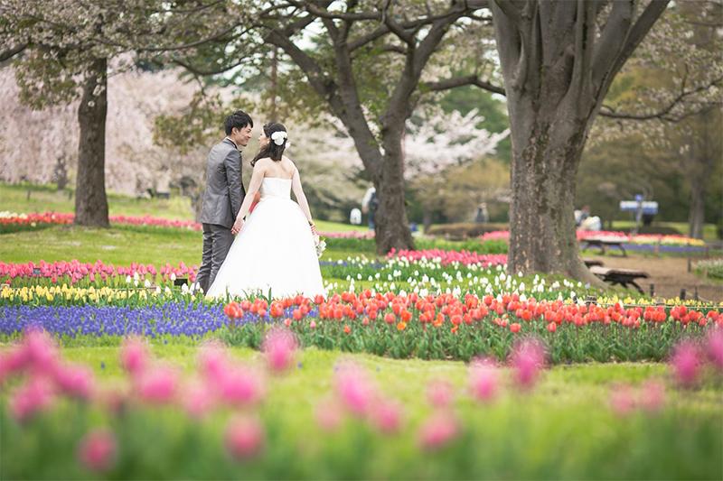 春に旬を迎える花と一緒にフォトウェディングをしよう!