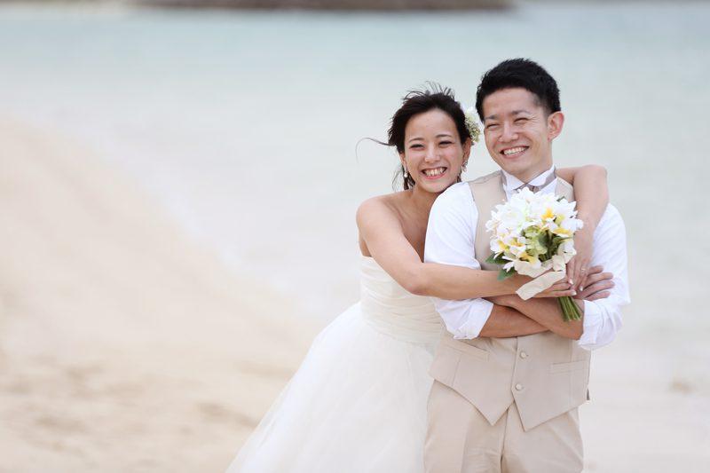 沖縄でのウェディングフォトは、サンセットが素敵!