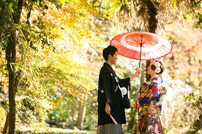 【和装編】秋を感じさせる艶やかウェディングフォトメイク術