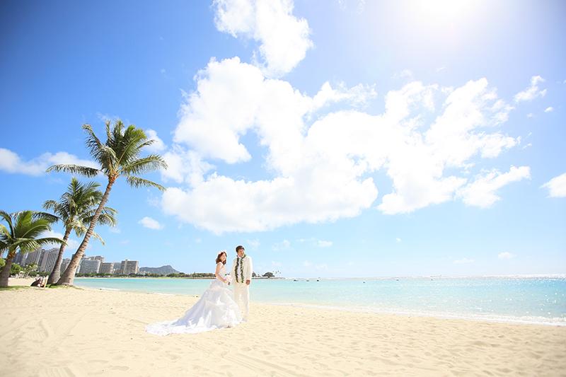 ハワイでのウェディングフォト撮影は、時間帯によって表情が変わる!