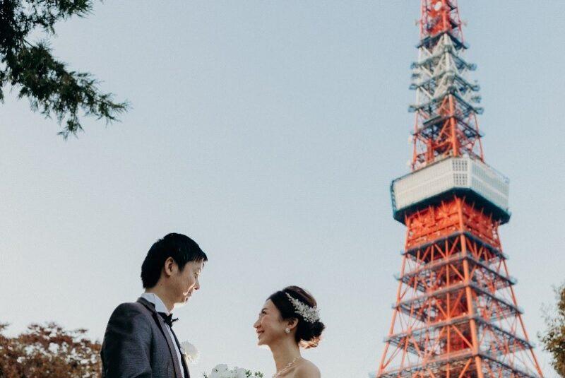 人気急上昇中! 東京タワーでウェディングフォトの前撮りをしよう